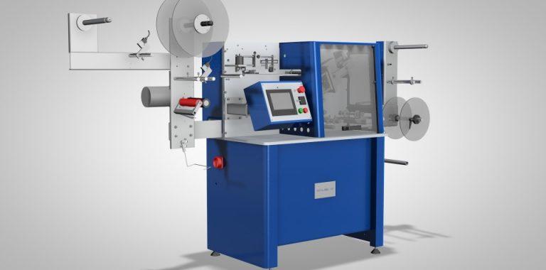 Máquina procesadora de etiquetas